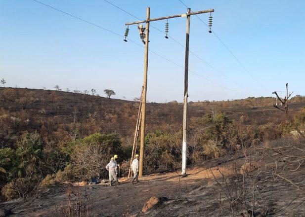 Número de clientes da Cemig prejudicados por queimadas aumenta mais de 350% no estado