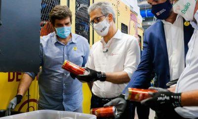 Romeu Zema participa de inauguração de fábrica de latas da Ambev em Sete Lagoas e visita obras do Anel Viário no município