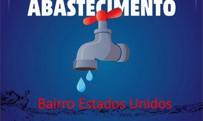 Suspensão de distribuição de água