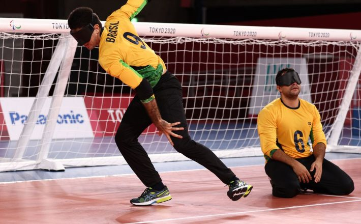Paralimpíada: Brasil goleia Lituânia na estreia do goalball masculino