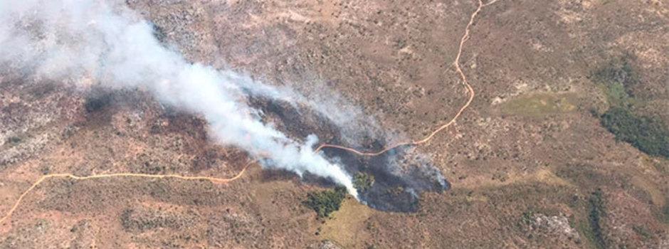 Estado passa a monitorar diariamente, por via aérea, incêndios florestais no Norte de Minas