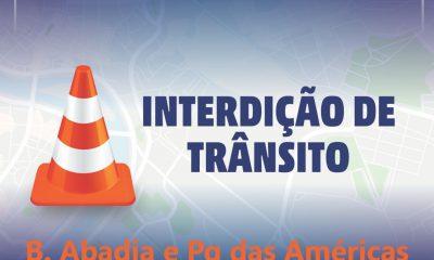 SERVIÇO CODAU – INTERDIÇÃO DE TRÂNSITO